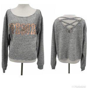 PINK Victorias Secret Gray Sweatshirt Size S Small